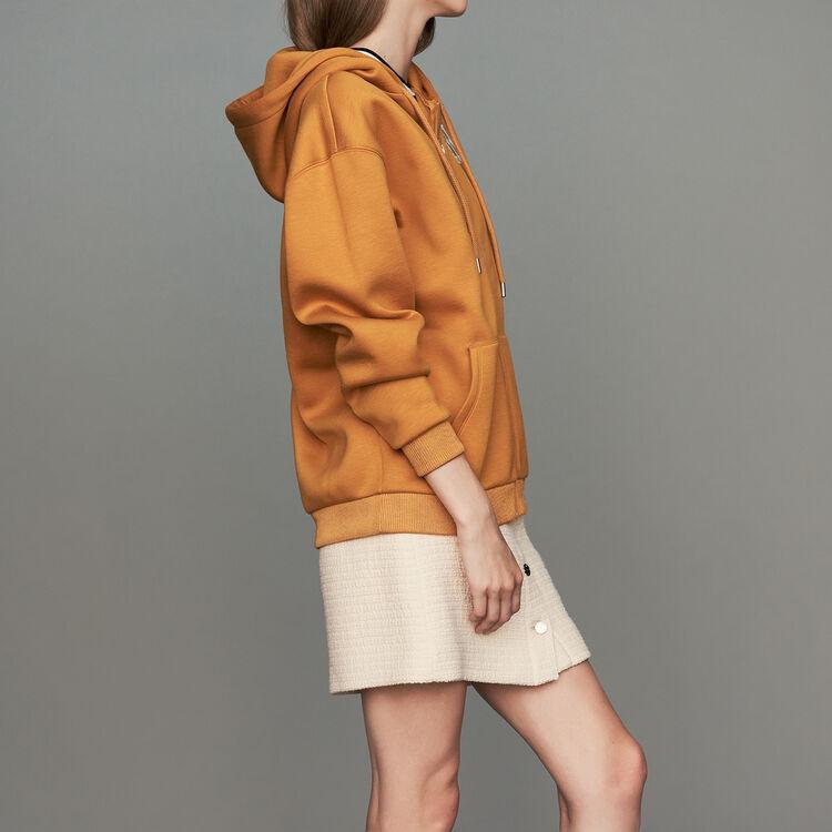 Felpa con cappuccio e zip : Sweatshirts colore Cammello