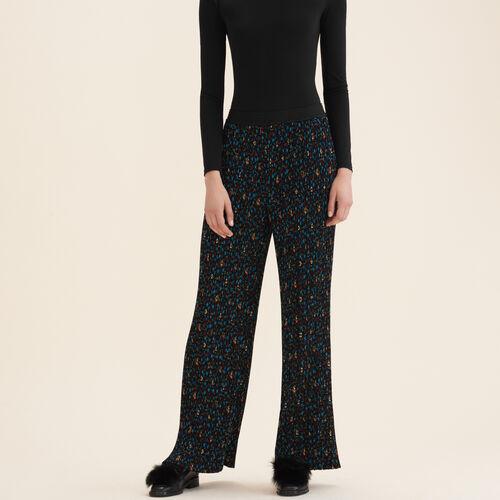 Pantaloni plissettati a stampa floreale - Pantaloni - MAJE