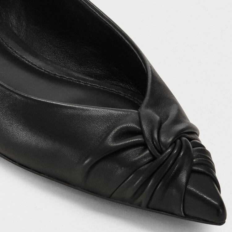Decollété confezionate in pelle : Scape basse colore Nero