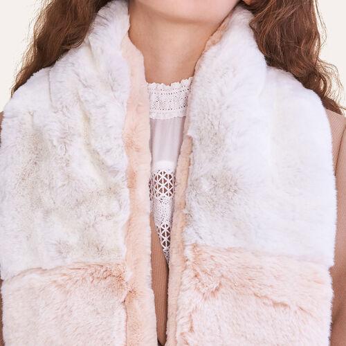 Sciarpa in pelliccia ecologica bicolore : Accessori colore Bicolore