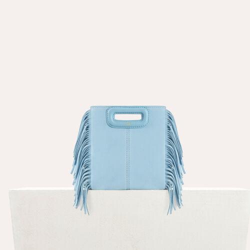Mini borsa M in pelle scamosciata : Borse M colore Ceruleo