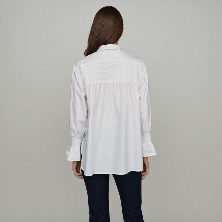 Camicia con stampa floreale : Tops e Camicie colore Bianco