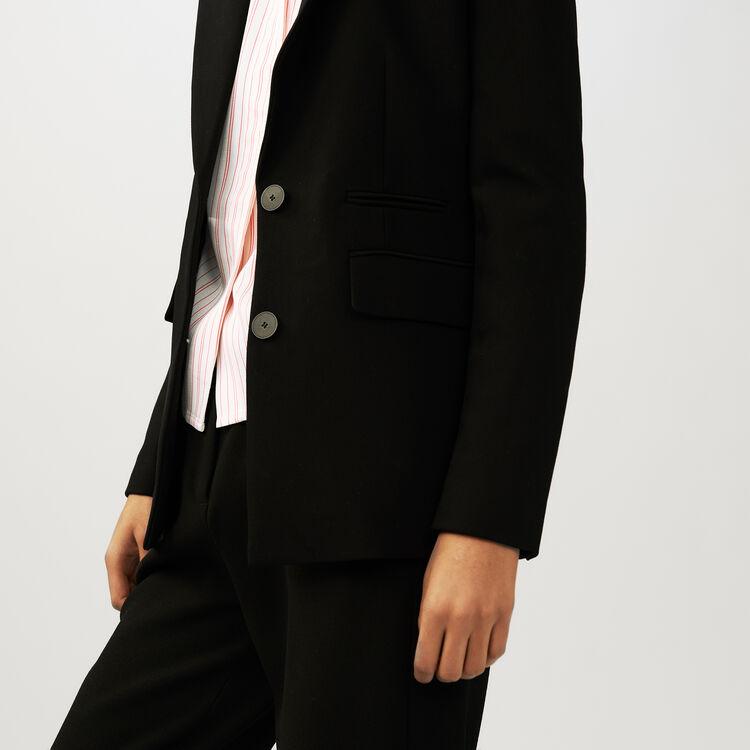 Giacca tailleur in crêpe : Giacche colore Nero