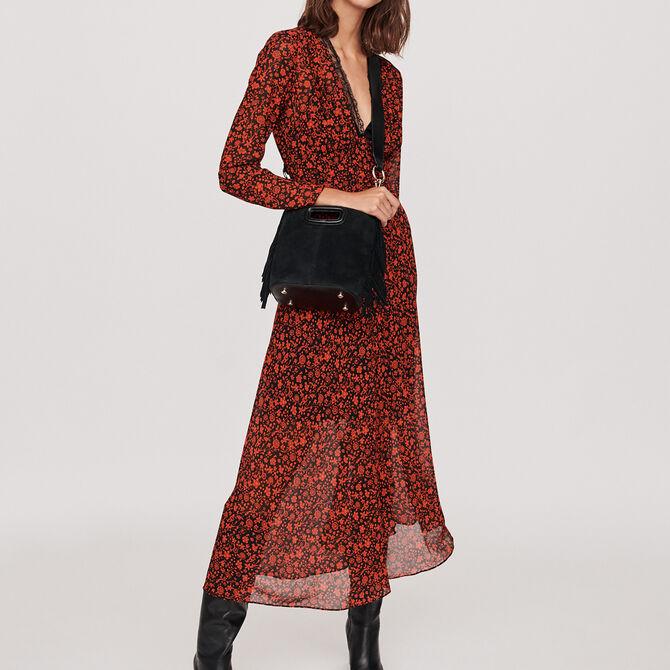 Printed-muslin scarf dress - Vedi tutto - MAJE