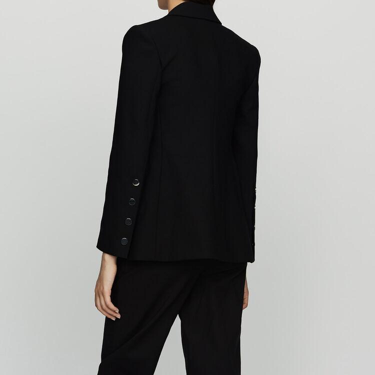 Giacca tailleur con dettagli a pressione : Giacche colore Nero