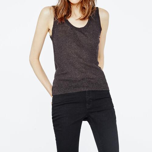 Canotta a coste : T-shirts colore Antracite