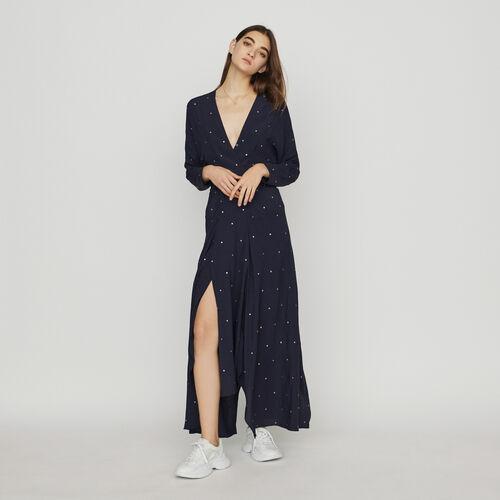 Vestito foulard con borchie : Vestiti colore Blu Marino