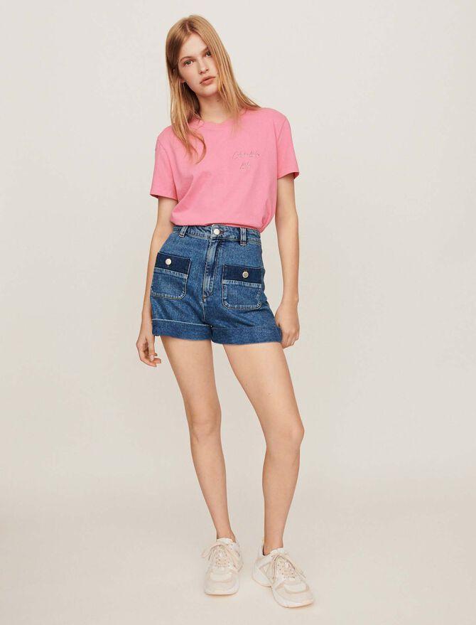 Short larghi di jeans con tasche - Gonne e shorts - MAJE