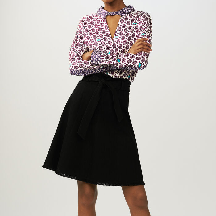 Floaty skirt with belt : Gonne e shorts colore Nero
