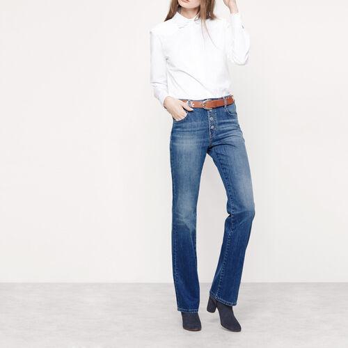 Jeans bootcut con bottoni a pressione : Pantaloni & jeans colore Denim
