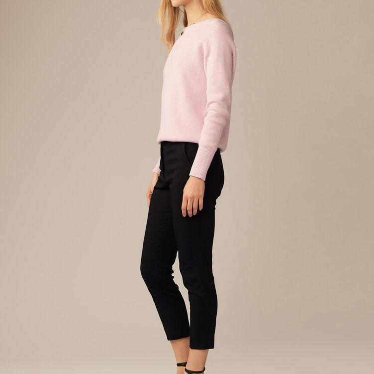 Pantaloni dritti in viscosa : Pantaloni colore Nero