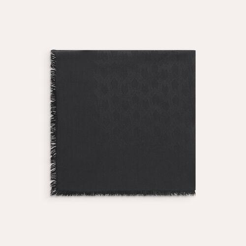 Scialle in misto cotone : Accessori colore Nero