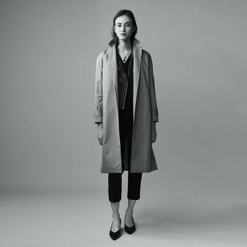 Trench in tela di cotone : Cappotti colore BEIGE SABLE
