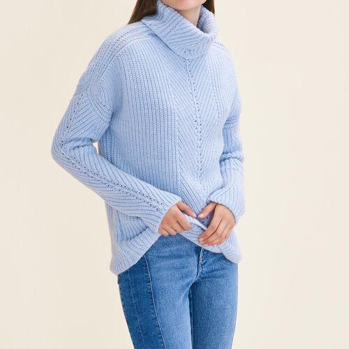 Pullover a collo alto oversize : Pullover e cardigan colore Ceruleo