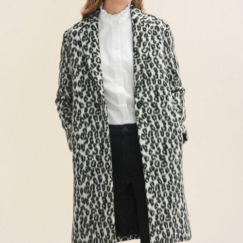 Redingote con motivo leopardato : Cappotti colore Stampato