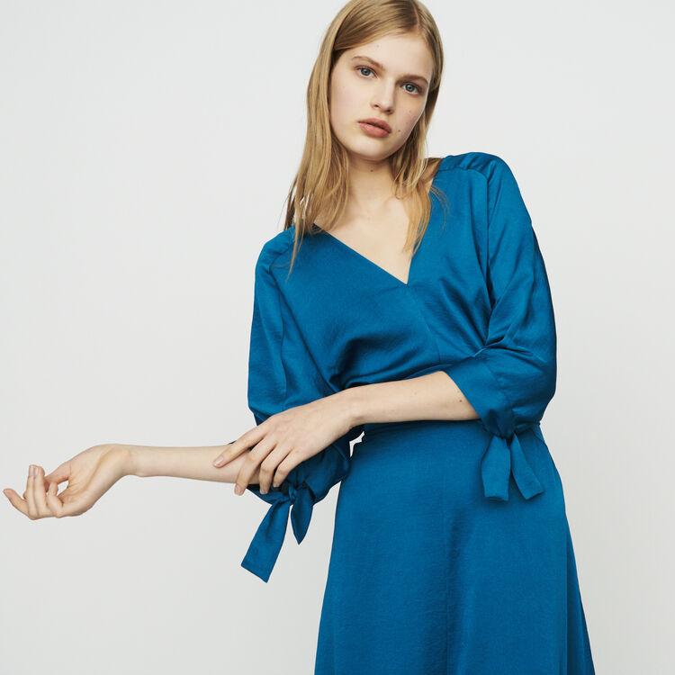 Vestito lungo scollato : Vestiti colore Blu