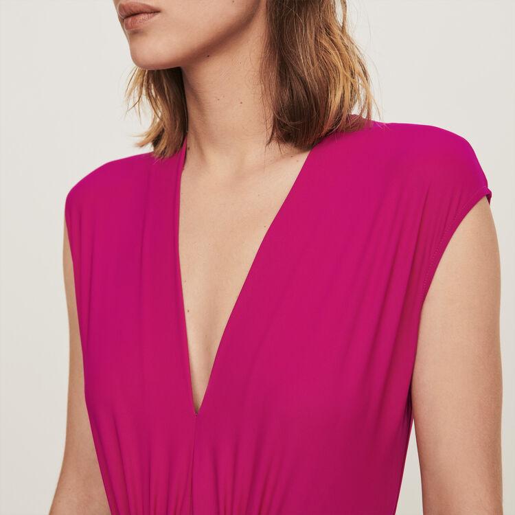 Body drappeggiato Stretch : T-Shirts colore Violetto
