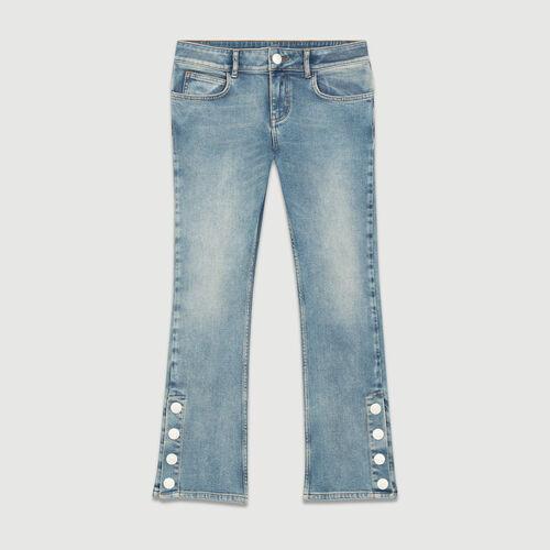 Jeans 7/8 svasata : Jeans colore Denim
