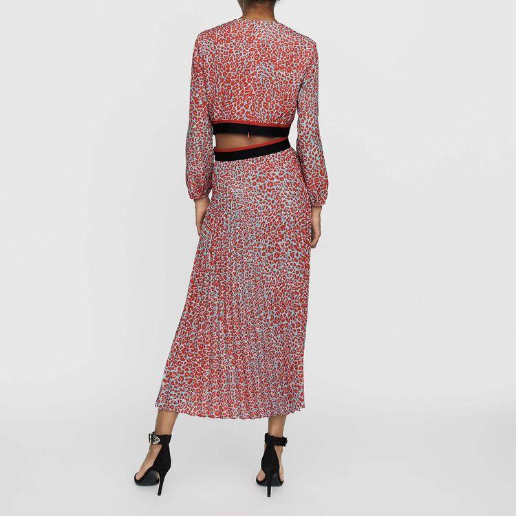 Vestito lungo plissettato stampato : Prêt-à-porter colore IMPRIME