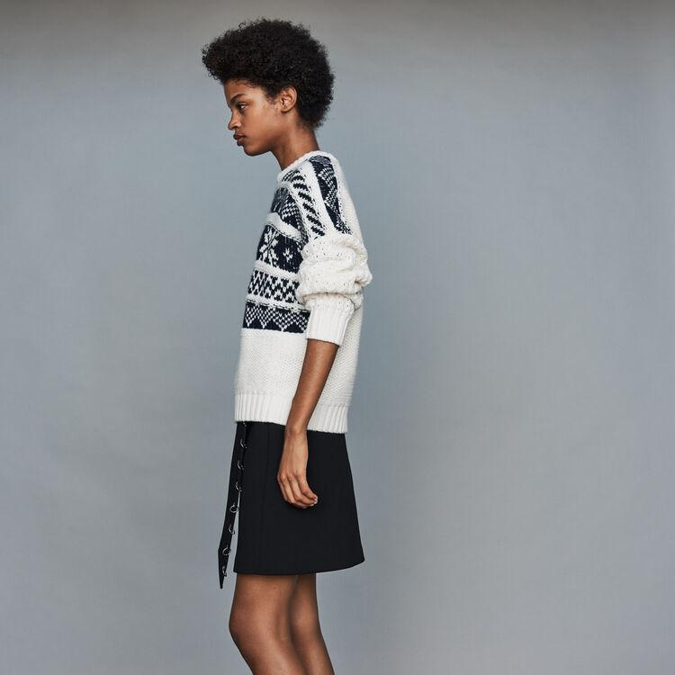 Pull in maglia jacquard : Maglieria colore ECRU