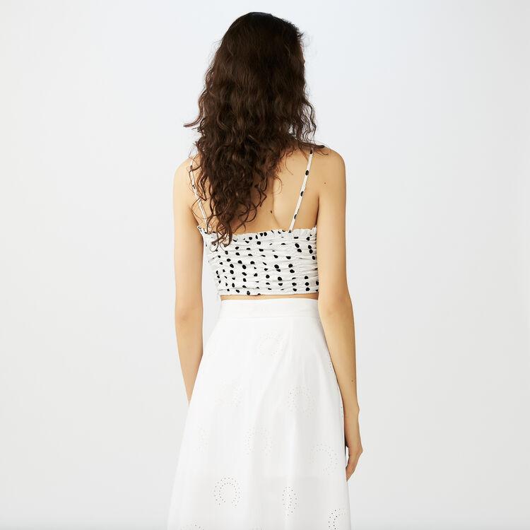 Top corto con spalline sottili : Tops colore Bianco