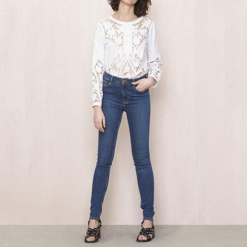Jeans slim a vita alta : Pantaloni & jeans colore Denim