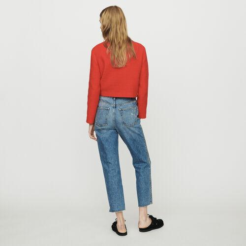 Jeans dritti con zip : Pantaloni e Jeans colore Denim