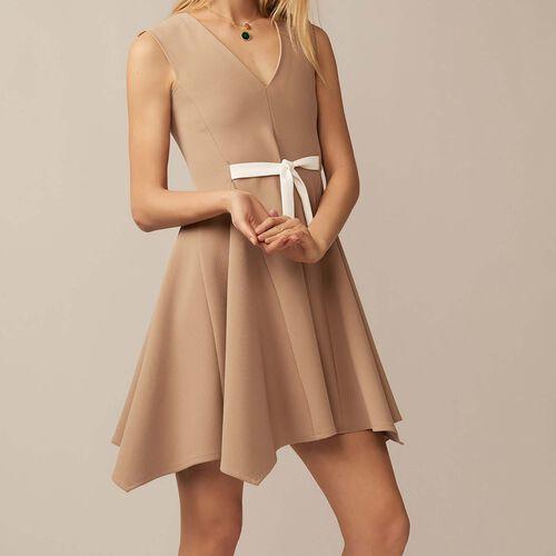Abito senza maniche con scollo a V : Vestiti colore Cammello