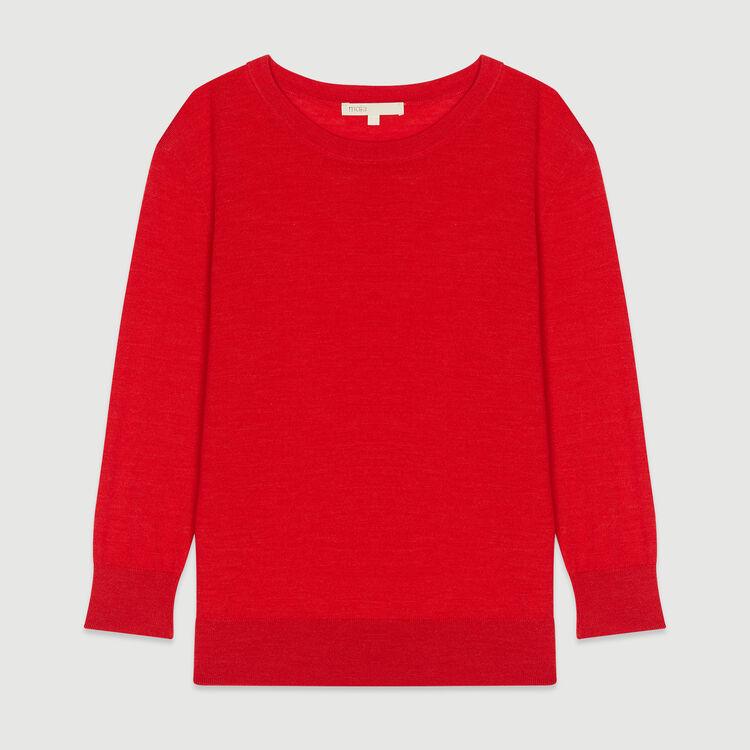 Pull collo rotondo : Pullover e cardigan colore Rosso
