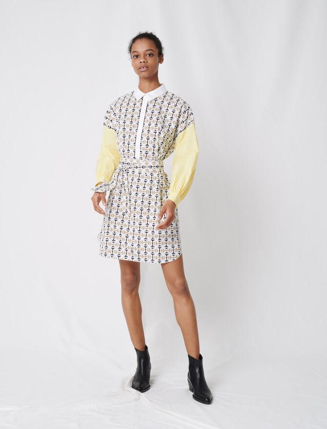 Abito-camicia in cotone stampato - Vestiti - MAJE