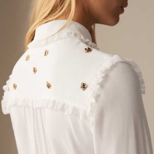 Camicia con api ricamate - Pre-collezione - MAJE