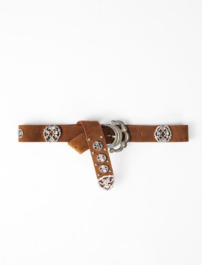 Cintura in pelle stile berbero - Cinture - MAJE