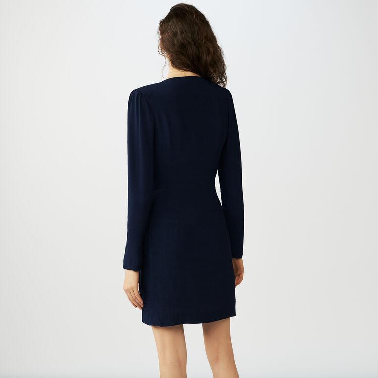Wrapover dress : Vestiti colore Blu Notte