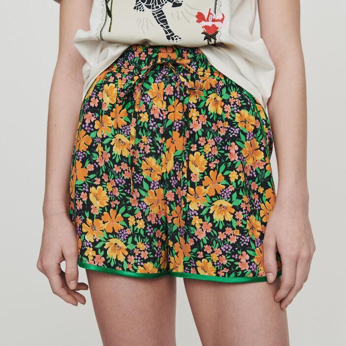 Short fluidi con stampa folreale : Gonne e shorts colore Stampato