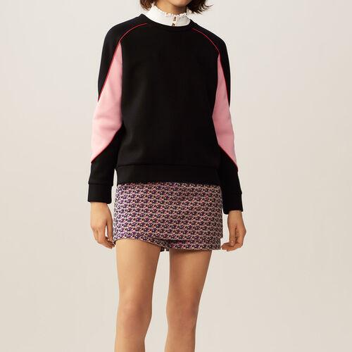 Felpa con dettagli colorati : Pullover e cardigan colore Nero