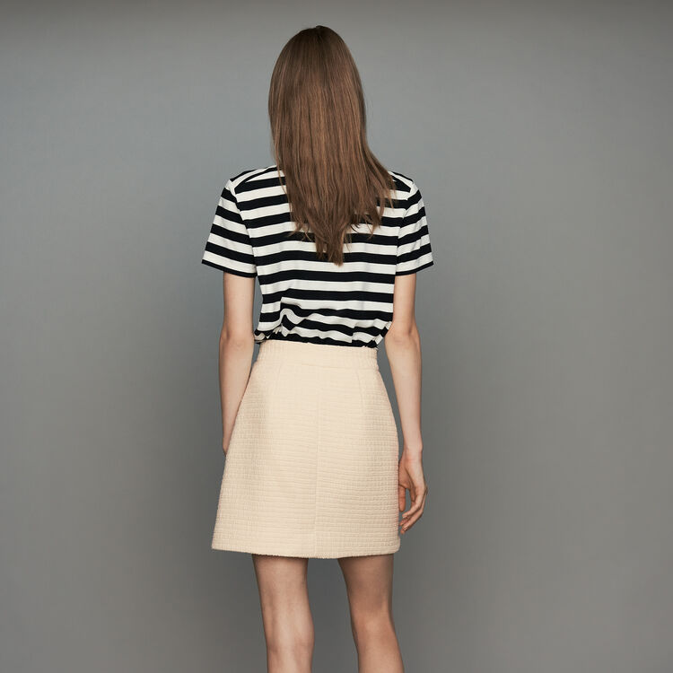 Skirt in tweed : Gonne e shorts colore Ecru