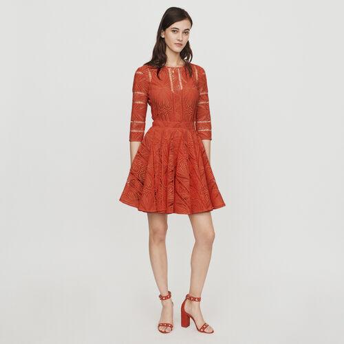 Vestito pattinatrice in pizzo : Vestiti colore Rosa