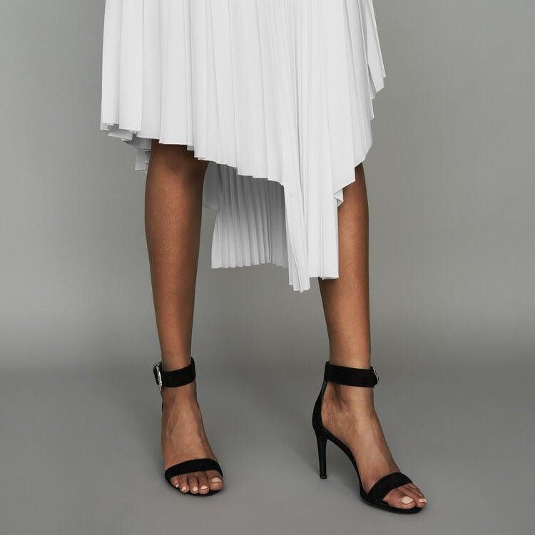 Gonna asimmetrica plissettata : Gonne e shorts colore Nero