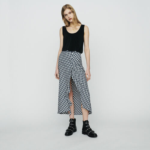 Gonna stampata vichy : Gonne e shorts colore CARREAUX