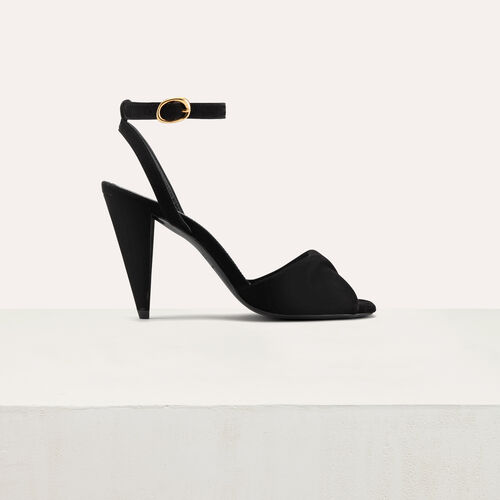 Leather high heals sandals : Scarpe colore Nero