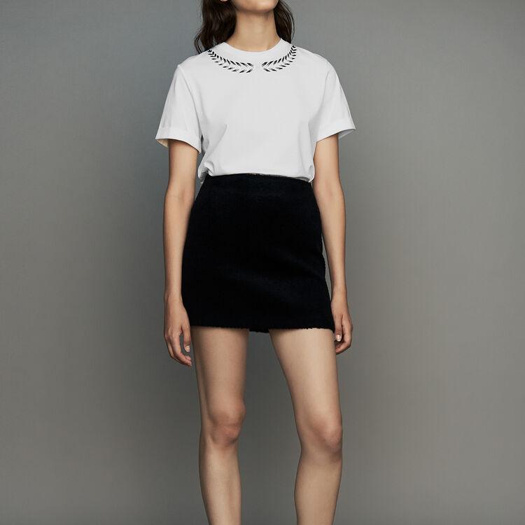 Tee-shirt con ricamo : T-Shirts colore ECRU
