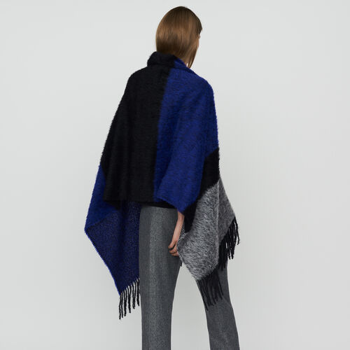 Echarpe en laine color block : Scialli & Poncho colore Violetto