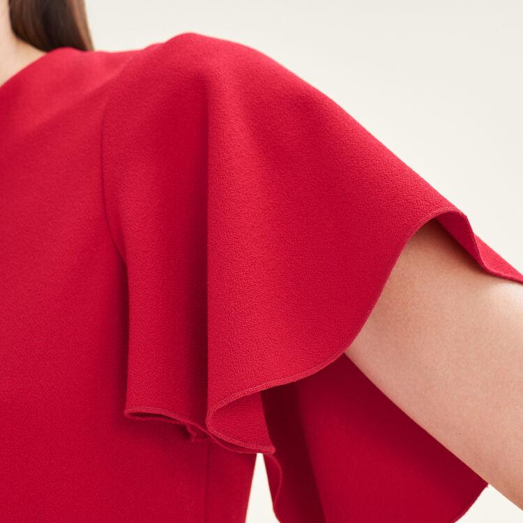 Abito con maniche a farfalla : Vestiti colore Rosso