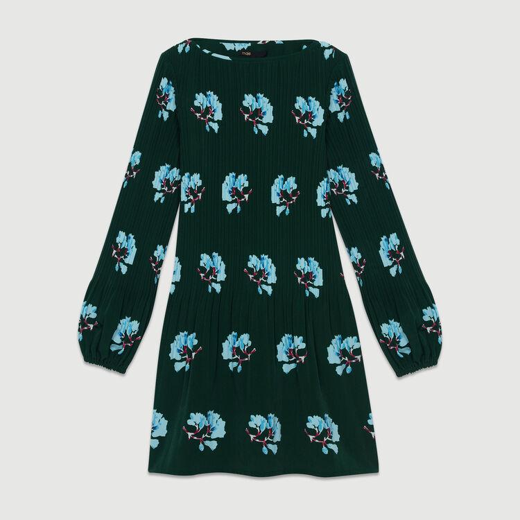 Vestito plissettato con stampa florelae : Nuova Collezione colore IMPRIME