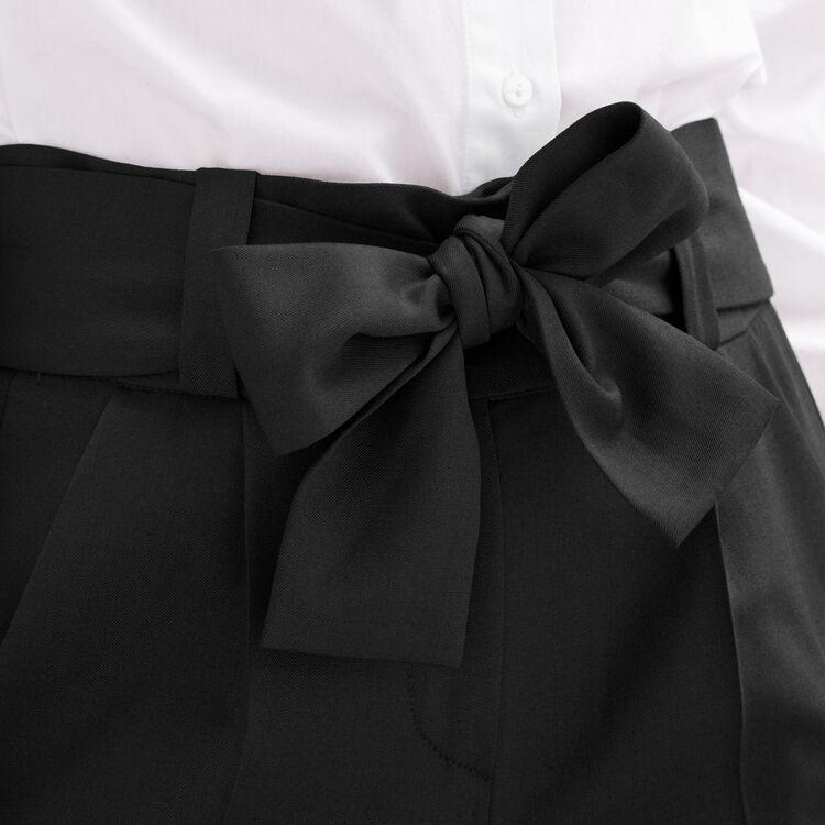 Pantaloni a carota con nodo : categories colore Nero