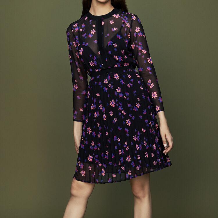 Vestito stampato con gonna plissettata : Vestiti colore IMPRIME