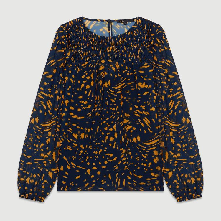 Blusa stampata con volant : Tops colore IMPRIME