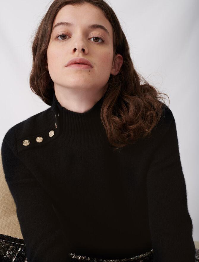 Maglione in cachemire a collo alto - Nuova collezione - MAJE