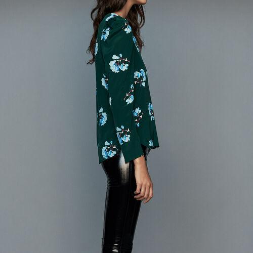 Blusa con stampa floreale : Tops colore IMPRIME
