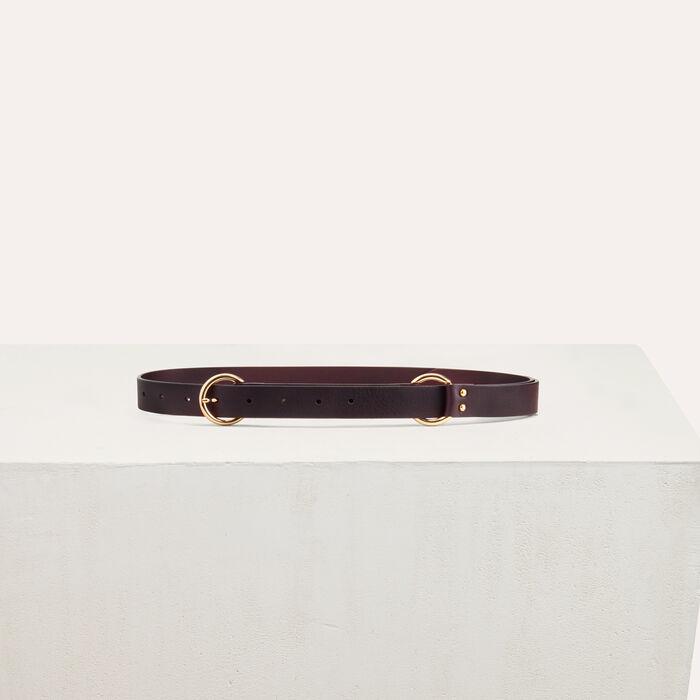 Cintura con anello metallico : Cinture colore Bordeaux